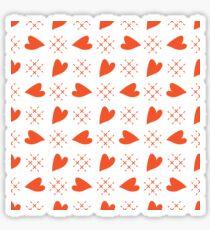 Seamless pattern with hearts. Valentine's Day Sticker