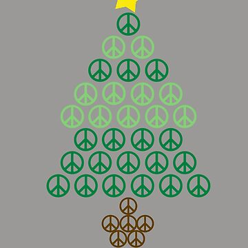 PEACE SIGN Christmas Tree Design | Hippies Xmas by melsens