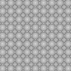Tranquil Drop Ripples - Geometric Lines Pattern (Black) by mariomartin