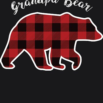 GRANDPA BEAR | Men Red Plaid Christmas Pajama Family Gift by melsens