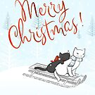 Christmas Cats on the Sleigh by runcatrun