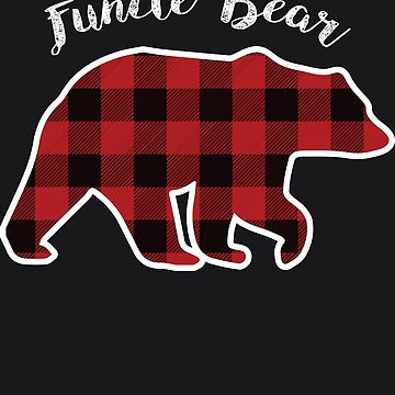 FUNCLE BEAR | Men Red Plaid Christmas Pajama Family Gift by melsens