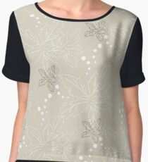 Background from leaves and circles Chiffon Top