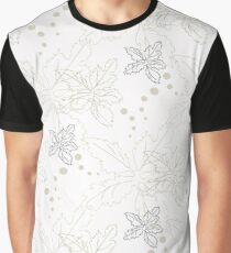 Background from leaves and circles Graphic T-Shirt