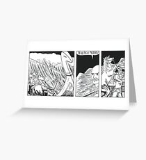 """VIKINGS """"ship in the storm"""" Greeting Card"""