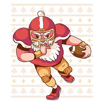 Funny Santa Football - Ugly Christmas Sweater Inspired by 6thave