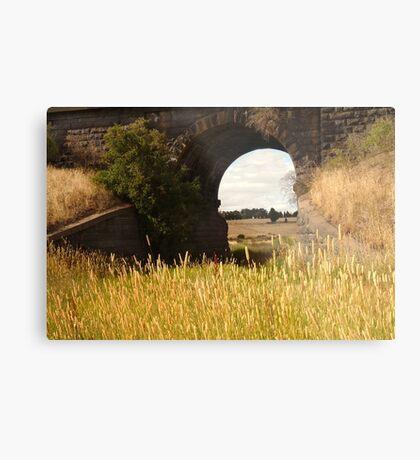 Railway Bridge,Geelong Outskirts Metal Print