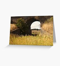 Railway Bridge,Geelong Outskirts Greeting Card