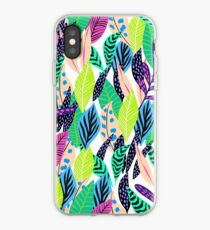 multicolored leaves iPhone Case