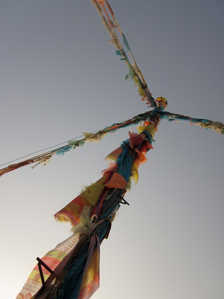 Prayer Flag - Qinghai by Mitchell Blatt, China Travel Writer
