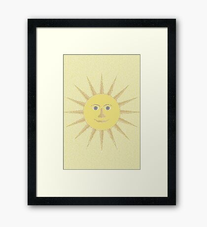 NDVH Sun Mosaic Framed Print