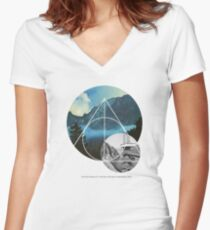 Echoes Reality Women's Fitted V-Neck T-Shirt