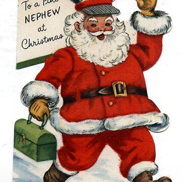 Vintage Santa Claus 'to a Fine Nephew' by Geekimpact
