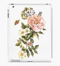 Watercolor vintage floral motifs iPad Case/Skin