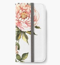 Watercolor vintage floral motifs iPhone Wallet/Case/Skin