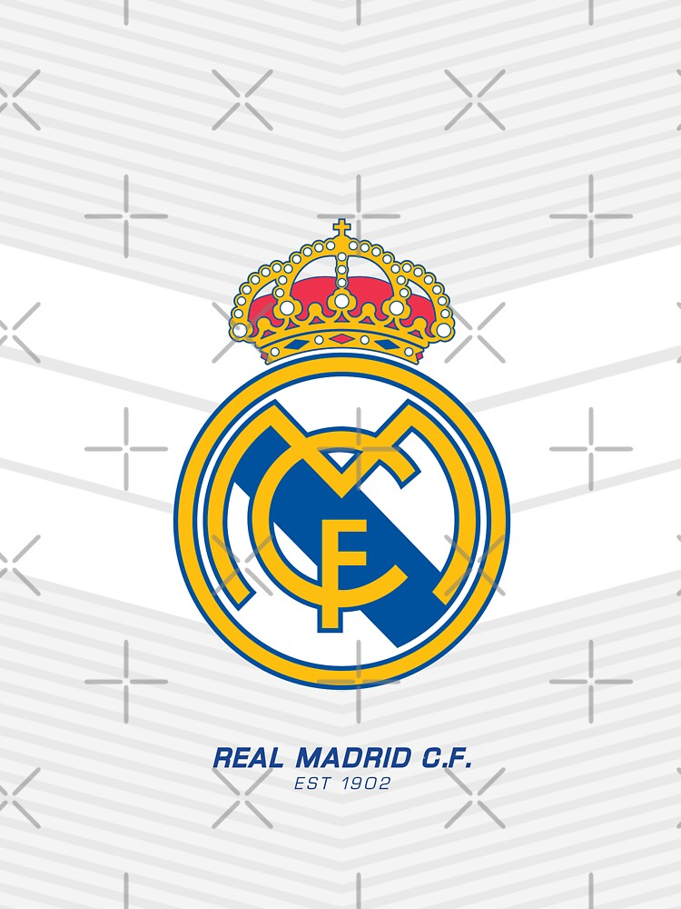 Real Madrid C.F | est 1902 | Logo Design - Pillow | Phone Case | Tablet | T Shirt | Duvet | Mug | Clock | Poster | Home Decor and more by footballicon67