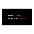 CSS - Everything Black (with background) by developer-gifts