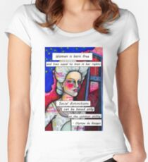 Olympe de Gouges Women's Fitted Scoop T-Shirt
