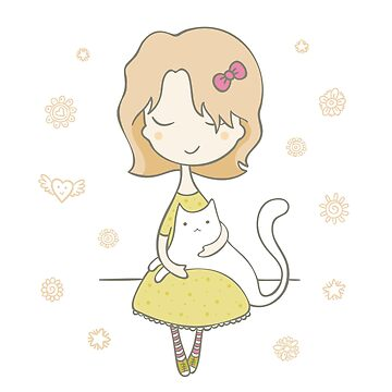 Girl With Cat by wearitout
