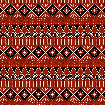 Mudcloth Style 2 in Red and Black by MelFischer
