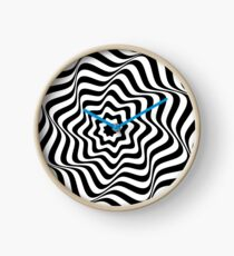 Optical Curves (in abstract black & white lines) Clock