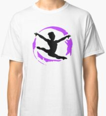Graceful Gymnast Colorful Graphic Classic T-Shirt