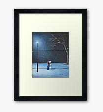 """A Happy Snowman"" by John Kenward Framed Print"