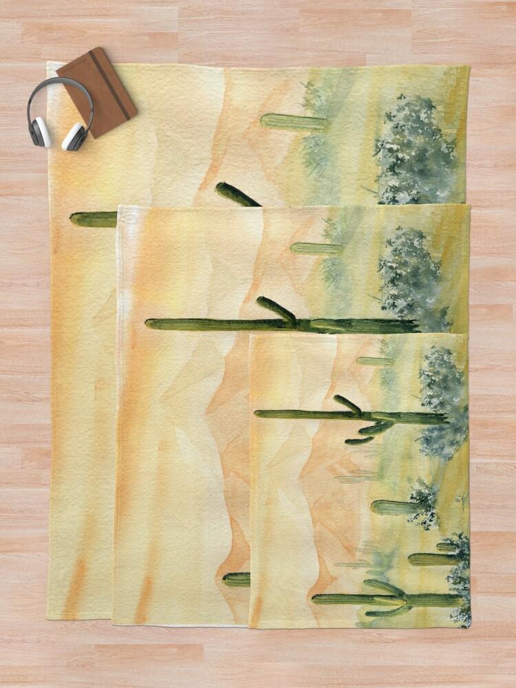 Alternate view of Desert Morning Throw Blanket