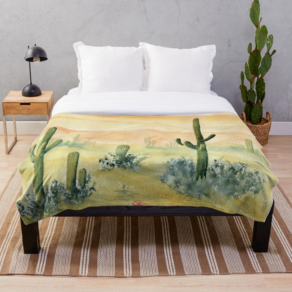 Desert Morning Throw Blanket