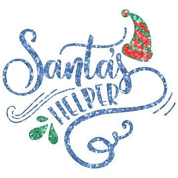Santas little helpers elegant typography by artonwear