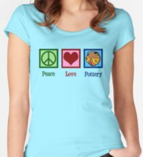 Peace Love Pottery Women's Fitted Scoop T-Shirt