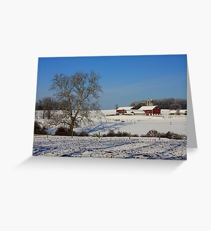 Winter in Lancaster County Greeting Card