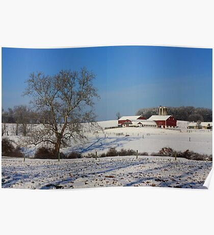 Winter in Lancaster County Poster