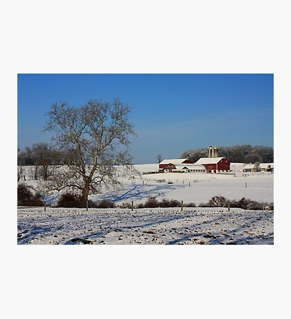Winter in Lancaster County Photographic Print