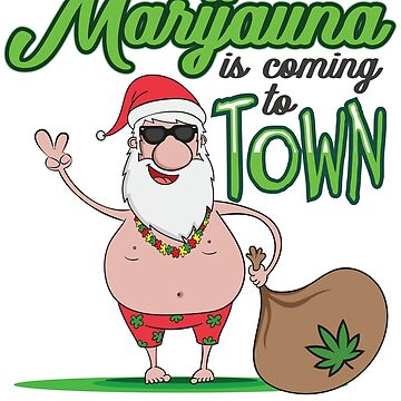 Santa Marijuana Weed Snowman Funny Christmas Gift Light by Superdesign1