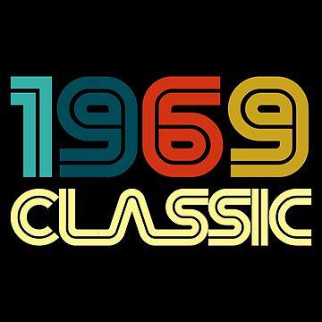 Vintage 50th Birthday Born In 1969  by ThreadsNouveau