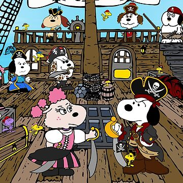 Snoopy's Pirate Family by r6568