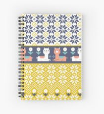 Alpaca Christmas Sweater Pattern  Spiral Notebook