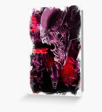 "Xenomorph ""Xenomorphobia"" Alien  Greeting Card"