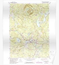 USGS TOPO Map New Hampshire NH Mt Pawtuckaway 329693 1981 24000 Poster