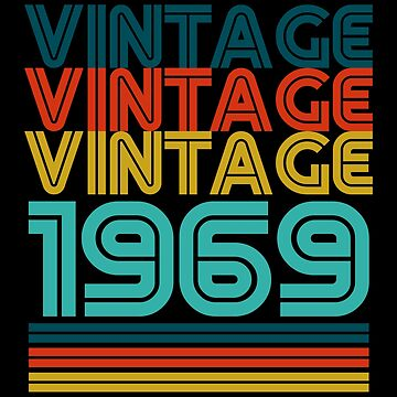 Vintage Born In 1969 Gift 50th Birthday by ThreadsNouveau