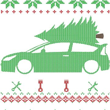 C4 Coupe Christmas Ugly Sweater XMAS by glstkrrn