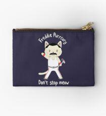 Don't Stop Meow!  Cute Freddie Cat - THE ORIGINAL - HIGH QUALITY PRINT Zipper Pouch