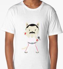 Stoppen Sie nicht Miau! Süße Freddie-Katze Longshirt
