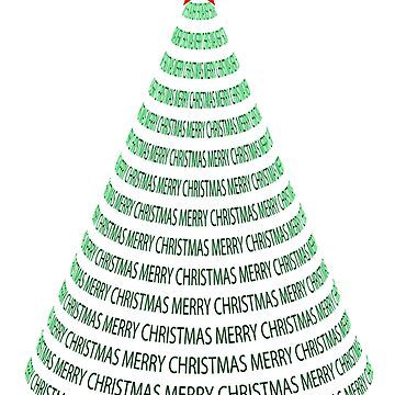 MERRY CHRISTMAS TREE. by TOMSREDBUBBLE