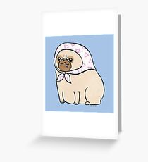 Pretty Pug Greeting Card