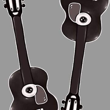 The Sad Guitar Old School Cartoon Style by kikoeart