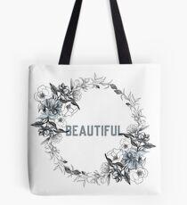 Beautiful - Flower Wreath Tote Bag