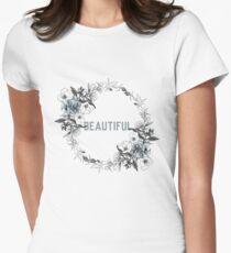 Beautiful - Flower Wreath Women's Fitted T-Shirt