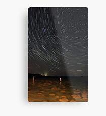 Star Trails Over Lake Clifton Thrombolites Metal Print